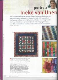 Portret in Quiltnieuws dec 2015 -1-